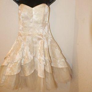 Masquerade Cream Color Short Dress